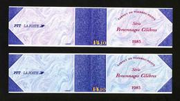 FRANCE - CARNET - YT BC 2360A ** - 2 CARNETS NON PLIES - TEINTES COUVERTURES DIFFERENTES - Personnages