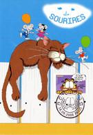 """"""" SOURIRES AVEC LE CHAT GARFIELD """" Sur Carte Maximum De 2008 N° YT 4272  Parfait état. CM - Comics"""