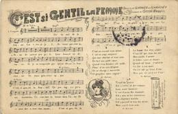 C'EST Si GENTIL  La FEMME  Paroles De Garnier Et Clamadieu Musique De Gasyon Maquis Recto Verso - Musica