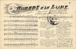 AUBADE  A LA LUNE  Paroles Hector DOMBRE  Musique De Gaston Maquis Recto Verso - Musica