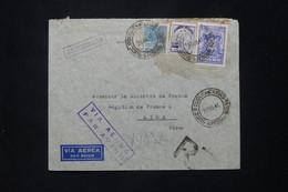 BRÉSIL - Enveloppe De L 'Ambassade De France En Recommandé Pour La Légation De France à Lima En 1941 - L 78056 - Briefe U. Dokumente