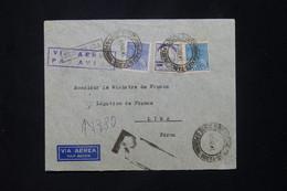 BRÉSIL - Enveloppe De L 'Ambassade De France En Recommandé Pour La Légation De France à Lima En 1941 - L 78057 - Briefe U. Dokumente