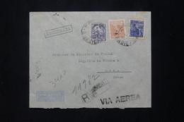 BRÉSIL - Enveloppe De L 'Ambassade De France En Recommandé Pour La Légation De France à Lima En 1942 - L 78058 - Briefe U. Dokumente
