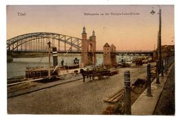 Cpa, Tilsit. M. 03216.  Hafenpartie An Der Konigin-Luise-Brucke - RUSSIE  /n 210 - Russia