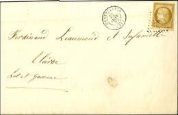 PC 2128 / N° 1 Bistre Brun Belles Marges Càd T 15 MONTPELLIER (33) Sur Imprimé Complet Adressé à Clairac. 1852. - TB / S - 1849-1850 Ceres