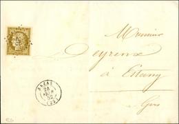 PC 296 / N° 1 Bistre Verdâtre Belles Marges Càd T 15 BAZAS (32) Sur Imprimé Complet Adressé à Estang. Au Verso, Cursive  - 1849-1850 Ceres