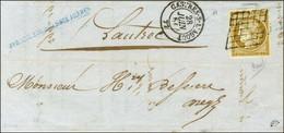Grille / N° 1 Belles Marges Càd T 15 CASTRES-S-l'AGOUT 77 Sur Lettre Locale. 1851. - SUP. - R. - 1849-1850 Ceres