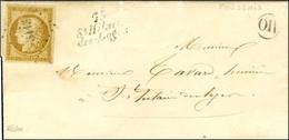 PC 3113 / N° 1 Belles Marges Cursive 79 / St Hilaire / Des-Loges Sur Lettre Avec Texte Daté De Foufsais Le 18 Juillet 18 - 1849-1850 Ceres