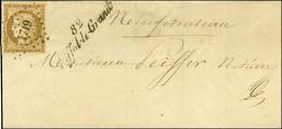 PC 1719 / N° 1 Belles Marges Cursive 82 / Liffol-le-Grand Sur Lettre Locale Pour Neufchâteau, Au Verso Càd D'arrivée 27  - 1849-1850 Ceres