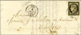 Càd T 15 PAU (64) 4 JANV. 49 / N° 3 Sur Lettre Pour Paris. - TB. - R. - 1849-1850 Ceres