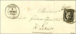 Càd T 14 SALINS (38) 4 JANV. 1849 / N° 3 (infime Def) Sur Lettre Pour Levier. Exceptionnelle Frappe. - SUP. - RR. - 1849-1850 Ceres