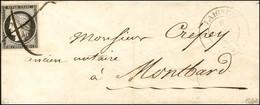 Plume / N° 3 Càd T 14 LAIGNES (20) 9 JANV. 49 Sur Lettre Pour Montbard. Càd D'arrivée 10 JANV. 49. - TB. - R. - 1849-1850 Ceres