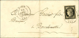 Càd T 14 DIGNE (5) 10 JANV. 1849 / N° 3 (leg Def) Sur Lettre Pour Barcelonnette. - TB / SUP. - RR. - 1849-1850 Ceres