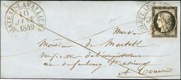 Plume + Càd T 13 CHATEAU-LAVALLIERE (36) 10 JANV. 1849 / N° 3 Sur Devant De Lettre Pour Tours. - TB / SUP. - R. - 1849-1850 Ceres