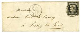 Grille + Càd T 15 AVRANCHES (48) 19 JANV. 49 / N° 3 Sur Lettre Pour Passy Les Paris. - TB. - 1849-1850 Ceres