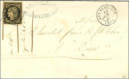 Grille + Càd T 15 LES ECHELLES (37) 15 AVRIL 49 / N° 3 Sur Lettre Pour Rives. - TB / SUP. - R. - 1849-1850 Ceres