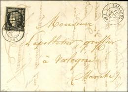 Grille + Càd T 15 BAILLEUIL (57) / N° 3 Sur Lettre Pour Valogne. 1849. - SUP. - R. - 1849-1850 Ceres
