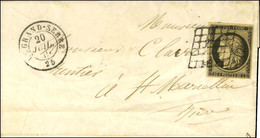 Grille / N° 3 Càd T 15 LE GRAND-SERRE 25. 1849. - TB / SUP. - R. - 1849-1850 Ceres