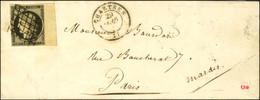 Grille / N° 3 Grand Bdf Avec Variété Angle Inférieur Droit Càd T 15 CHARTRES 27. 1849. - TB / SUP. - R. - 1849-1850 Ceres