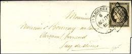 Grille + Càd T 14 PERIGUEUX / N° 3 Sur Lettre Avec Texte Pour Clermont Ferrand. 1850. - SUP. - R. - 1849-1850 Ceres