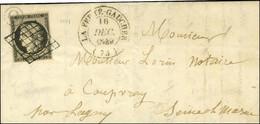 Grille / N° 3 Noir Sur Blanc Càd T 14 LA FERTÉ-GAUCHER (73) B. Rur O Sur Lettre Avec Texte Daté De Jouy Sur Marne. 1849. - 1849-1850 Ceres