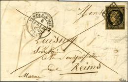 Grille / N° 3 Nuance Noire Sur Fauve Càd T 14 VERDUN-S-MEUSE (53). 1849. - TB / SUP. - R. - 1849-1850 Ceres