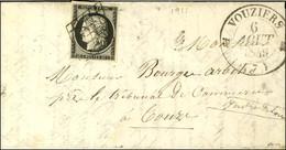 Grille / N° 3 Noir Sur Blanc Càd T 12 VOUZIERS (7). 1849. - SUP. - R. - 1849-1850 Ceres