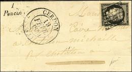 Grille / N° 3 Càd T 13 CERDON (1) Cursive 1 / Poncin. 1849. - SUP. - R. - 1849-1850 Ceres