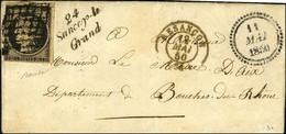 Grille / N° 3 Càd T 15 BESANCON (24) Cursive 24 / Sancey-le / Grand, Dateur B. 1850. - TB / SUP. - R. - 1849-1850 Ceres