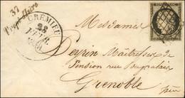 Grille / N° 3 Càd T 13 CREMIEU (37) Cursive 37 / Trept-d'Isère. 1850. - TB / SUP. - R. - 1849-1850 Ceres