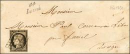 Grille / N° 3 Cursive 44 / Luzech Sur Lettre Pour Fumel. 1850. - TB / SUP. - R. - 1849-1850 Ceres