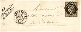 Grille / N° 3 Càd T 15 FRAYSSINET (44) Cursive 44 / St.Germain-du-Bel-Air Sur Lettre Avec Texte Pour Cahors. 1849. - SUP - 1849-1850 Ceres