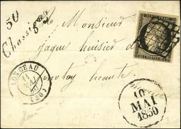 Grille / N° 3 Càd T 15 LONGEAU (50) Cursive 50 / Chassigny Dateur A. 1850. - SUP. - R. - 1849-1850 Ceres