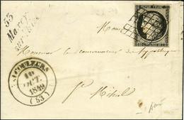 Grille / N° 3 Càd T 14 VAUCOULEURS (53) Cursive 53 / Maxey / Sur Vaise. 1849. - TB / SUP. - R. - 1849-1850 Ceres
