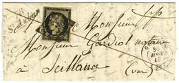 Grille / N° 3 (leg Def) Càd T 15 GRASSE (78) Cursive 78 / St Auban. 1849. - TB / SUP. - R. - 1849-1850 Ceres