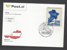 Austria - 2008 - FDC - Flower - Sticker - Mi N. 2773 - FDC