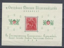 Ungheria - 1938 - Nuovo/new MNH - Szent Istvan - Mi Block 2 - Blocs-feuillets