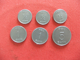 6 Pièces Monnaie En Plastique Marque Pipo - Specimen