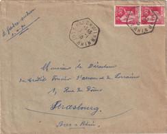 ALSACE-LORRAINE 1940 LETTRE DE BISCHWILLER - Elsass-Lothringen