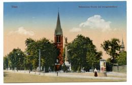 Cpa, Tilsit. 204828. Reformierte Kirche Mit Kriegerdenkmal - RUSSIE  /n 212 - Russia