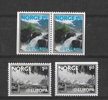 EUROPA CEPT NORVEGE 4 VALEURS ( N° 698/699a) NEUF** - 1977