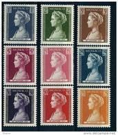"""Monaco YT 478 à 486 """" Naissance De La Princesse Caroline """" 1957 Neuf** - Unused Stamps"""