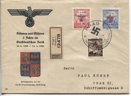 Böhmen Und Mähren # 83-4 Schmuck-FDC Sonderstempel #86a, Staatswappen - FDC