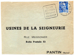 ISERE  - Dépt N° 38 = TULLINS 1953 = Flamme DAGUIN 'BON ACCUEIL / CLIMAT / SEJOUR' - Annullamenti Meccaniche (Varie)