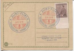 Böhmen Und Mähren # 85 FDC Drucksachenkarte Einzelfrankatur Mit Sonderstempel #95 Zlin 20.4.42 - FDC