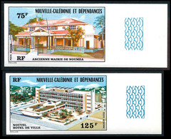 NOUV.-CALEDONIE 1976 - Yv. PA 174 Et 175  ND ** SUP Bdf - Mairie Nouméa (2 Val.) Imperf NON DENTELE  ..Réf.NCE25787 - Non Dentellati, Prove E Varietà