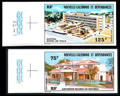 NOUV.-CALEDONIE 1976 - Yv. PA 174 Et 175  ND ** SUP Bdf - Mairie Nouméa (2 Val.) Imperf NON DENTELE  ..Réf.NCE25788 - Geschnitten, Drukprobe Und Abarten
