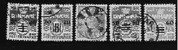 Féroé 1940-1941 N° 1/5 Oblitérés Surchargés Pour Occupation Anglaise Des Iles - Féroé (Iles)