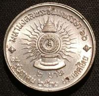 THAILANDE - THAILAND - 2 BAHT 1987 ( 2530 ) - Rama IX - Anniversaire Du Roi - KM 194 - Thailand