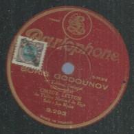 "75 ) 78 Tours 30cm  PARLOPHONE 9293  "" BORIS GODOUNOV ""  + "" BORIS GODOUNOV "" CHOEUR LETTON - 78 G - Dischi Per Fonografi"